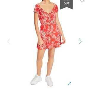 NWOT Free People Thing Called Love Coral Mini Dess